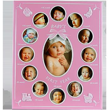 Фоторамка 12 месяцев Розовая