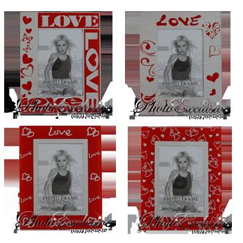 Стекло красное LOVE 7-2